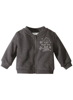 Baby sweatjakke, økologisk bomull, bpc bonprix collection