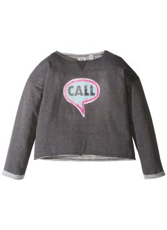 Sweatshirt med paljetter, bpc bonprix collection