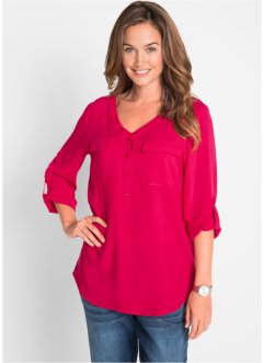 Bluse i viskose, langermet, bpc bonprix collection