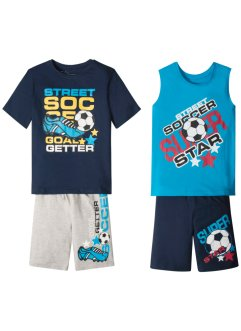 T-shirt, singlet + bermudashortser (4 deler, sett), bpc bonprix collection