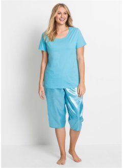 Capri pyjamas med satengbukse, bpc bonprix collection