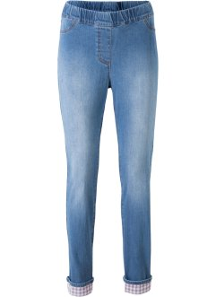 Stretch-jeans med rutet besetning, bpc bonprix collection