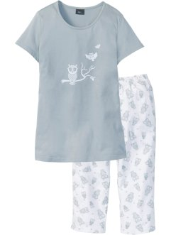 Capri pyjamas med korte ermer, bpc bonprix collection