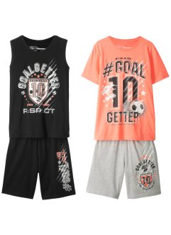 T-shirt + tanktopp + bermuda (4-delt sett), bpc bonprix collection