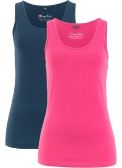Tanktopp med stretch (2-pack), bpc bonprix collection