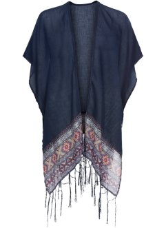 Sommerponcho med frynser, bpc bonprix collection