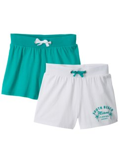 Shorts til jente (2-pack), bpc bonprix collection