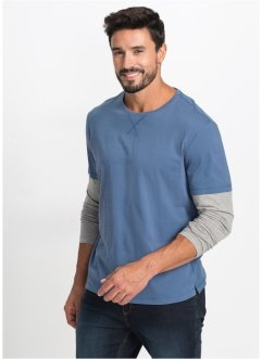 2-i-1 T-shirt med lang arm, normal passform, bpc bonprix collection