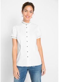 Bluse med rysjer, bpc bonprix collection