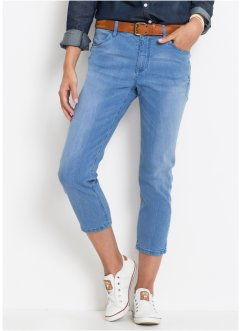 Jeans med stretch, 7/8-lengde, smal passform, John Baner JEANSWEAR