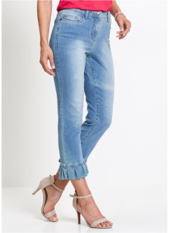 Stretchjeans, 7/8-lang, med rysje/, bpc selection