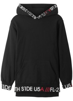 Sweatshirt med hette, lang, bpc bonprix collection
