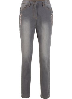 Stretch jeans med broderi, bpc bonprix collection