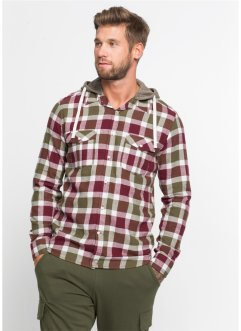 e13c6be5 Flanell-skjorte med avtagbar sweat-hette, smal passform, RAINBOW