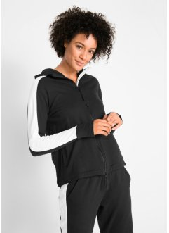 Sweatjakke i bomull, lang arm, bpc bonprix collection