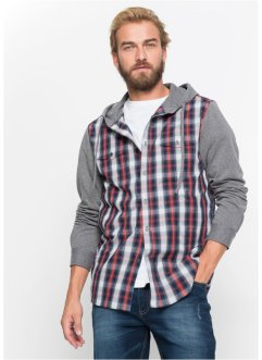 abd5c089 Langermet skjorte med sweat-ermer, normal passform, John Baner JEANSWEAR