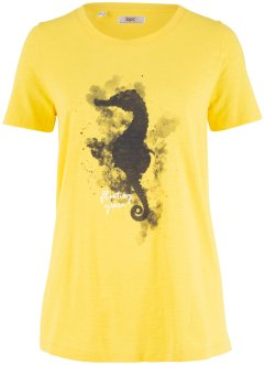 Bomulls-T-shirt med sjøhest-trykk, bpc bonprix collection