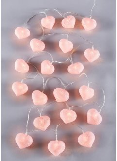 "LED-lyskjede ""Cotton Heart"", bpc living"