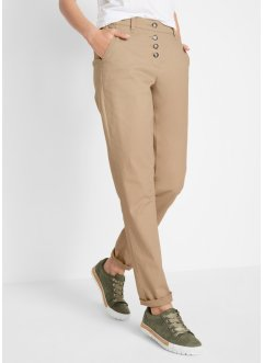Chinos-bukse med knappelist, bpc bonprix collection