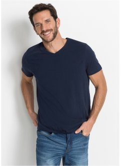 T-shirt med V-hals (3-pack), bpc bonprix collection