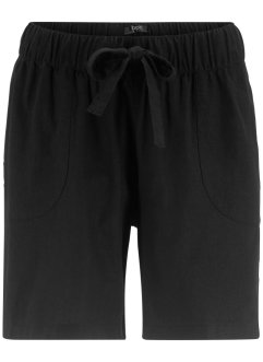 Lin-paperbag shorts med snøring, bpc bonprix collection