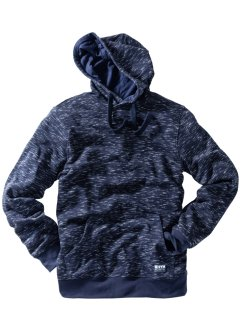 Sweatshirt med hette, melert, normal passform, bpc bonprix collection