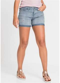 Jeans-hotpants med broderi, RAINBOW