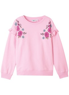 Sweatshirt med rysjer, bpc bonprix collection