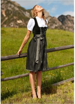 Dirndl med forkle, i blonde, knelang, bpc bonprix collection