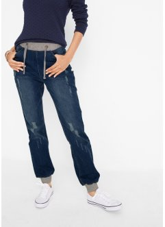 Komfort-boyfriend jeans med ribbet linning, bpc bonprix collection