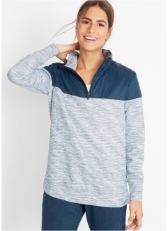 Sweatshirt med kontrastfarge, lang arm, bpc bonprix collection