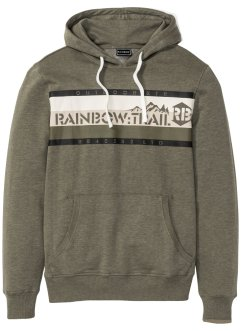 Sweatshirt med hette Slim Fit, RAINBOW