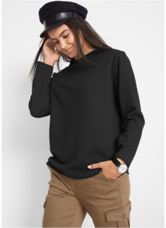 Sweatshirt med nuppestruktur, bpc bonprix collection