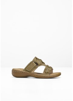 Pantolette i skinn, bpc bonprix collection