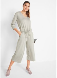 Jumpsuit med vide ben, 3/4-lang arm, bpc bonprix collection
