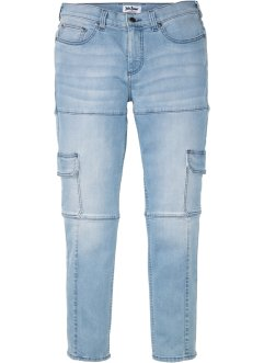 Cargo-Stretchjeans Slim Fit Straight, John Baner JEANSWEAR