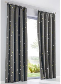 Liftgardin med stjernetrykk (1-pack), bpc living bonprix collection
