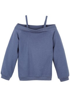 Sweatshirt med carmen-hals, bpc bonprix collection