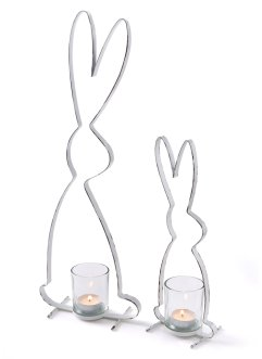 Telys holder i hare-form (2-delt sett), bpc living bonprix collection