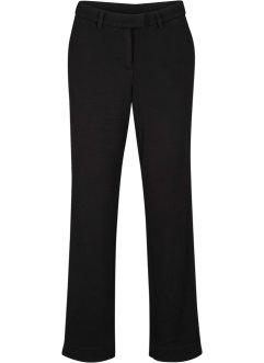 Bukse med elastisk linning mørk blågulorangehvit stripet