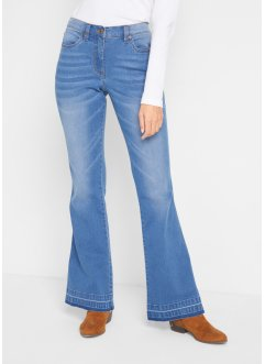 Ultrasoft bootcut-jeans med elastisk linning, bpc bonprix collection