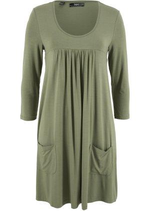 Trikot-kjole, 3/4-ermer, bpc bonprix collection