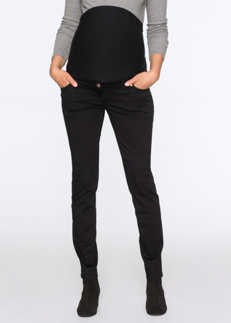 Mørkblå Blomstret Jersey bukse, 78 Dame Mote Bpc Bonprix