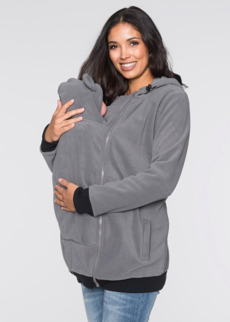 Koselig mammajakke med babyinnsats og en søt detalj