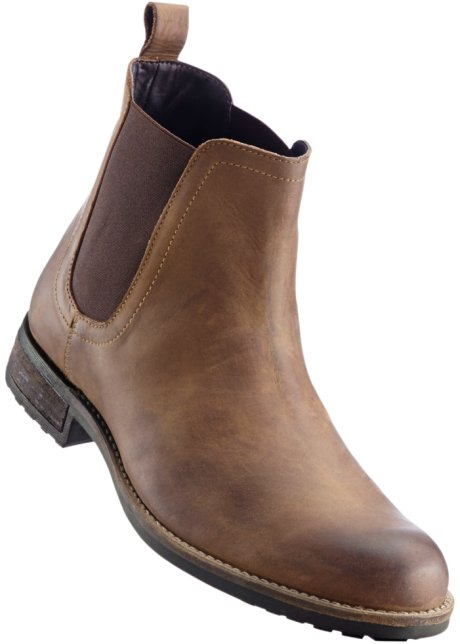 faaf83bb i i skinn boots John JEANSWEAR Chelsea bonprix bonprix no Cognac Baner  BUzHwqn