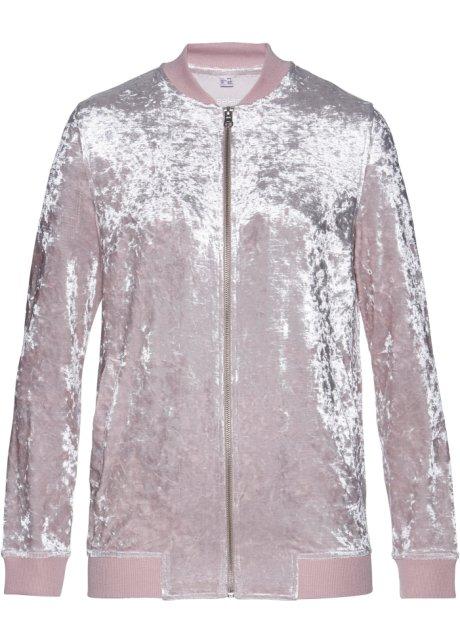 1fc4f530 Myk jakke i nervøs fløyel matt rosa skinnende - bpc selection ...