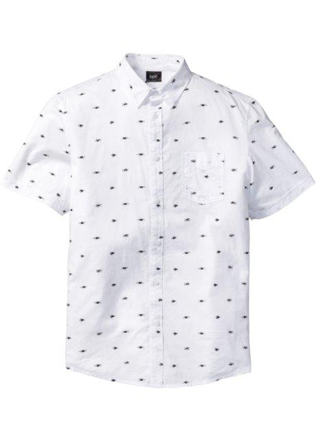 229fef38 Skjorte med kort arm, småmønstret, normal passform, bpc bonprix collection