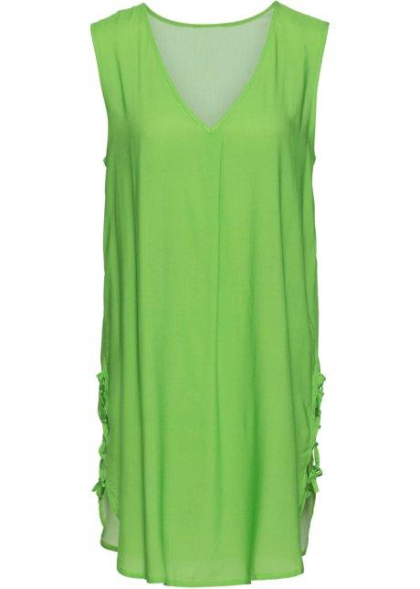 8c14a032a00a Lang tunika-bluse med snøring fikengrønn - BODYFLIRT bestill online ...