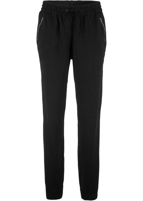 52ac4967 Behagelig bukse med strikk i livet sort - bpc bonprix collection ...