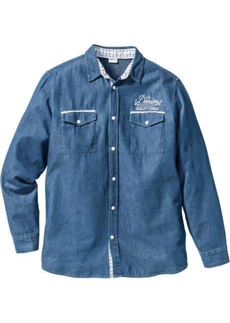 3f027ec8c Langermet jeans-skjorte, normal passform
